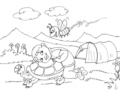 Coloriage Camping 26