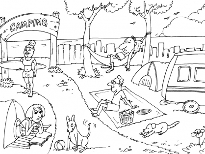 Coloriage Camping 27