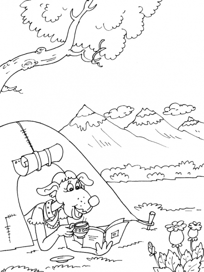 Coloriage Camping 29