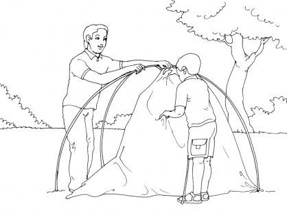Coloriage Camping 3