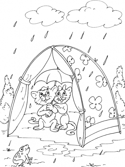 Coloriage Camping 30