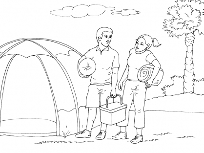 Coloriage Camping 7