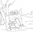 Coloriage Camping 8