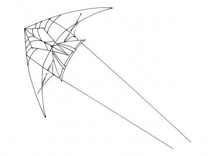 Coloriage Cerf-volant 1
