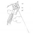 Coloriage Cerf-volant 10