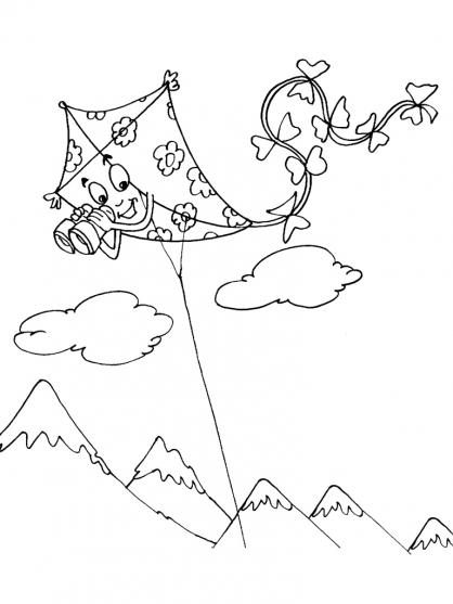 Coloriage Cerf-volant 28