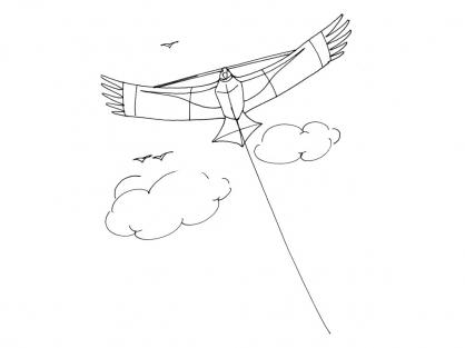 Coloriage Cerf-volant 4