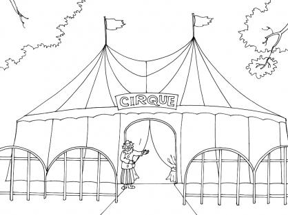 Coloriage Cirque 10