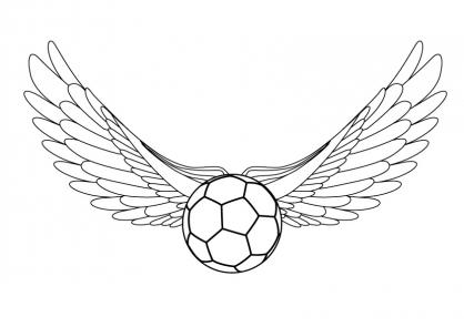 Coloriage Coupe du monde : Ballon ailé