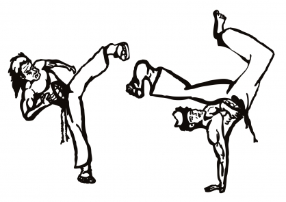 Coloriage Coupe du monde : Danseurs de Capoeira (2)