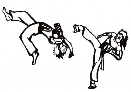 Coloriage Coupe du monde : Danseurs de Capoeira