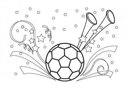 Coloriage Coupe du monde : Fête du foot