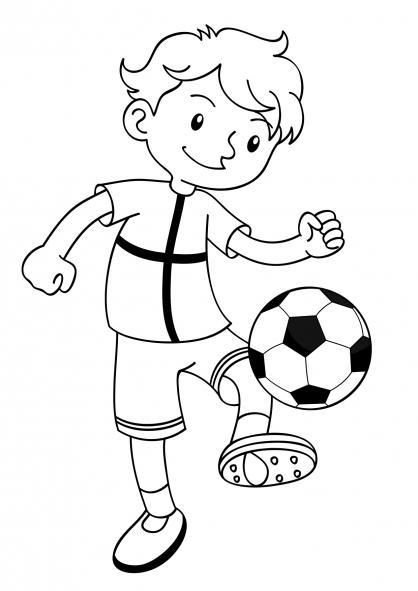 Coloriage Coupe du monde : Joueur de football (2)