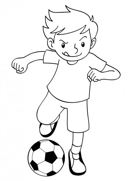 Coloriage Coupe du monde : Joueur de football (3)