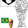 Coloriage Coupe du monde : La coupe