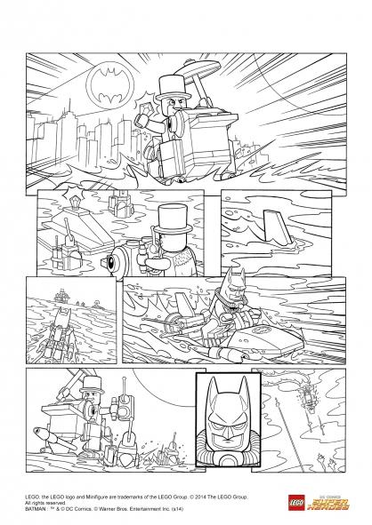 Coloriage LEGO Batman 3 : Batman contre le Pingouin