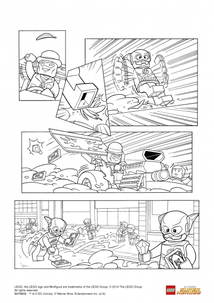 lego flash coloring pages - photo #31