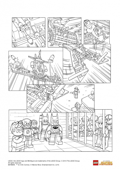 Coloriage LEGO Batman 3 : La Justice League triomphe