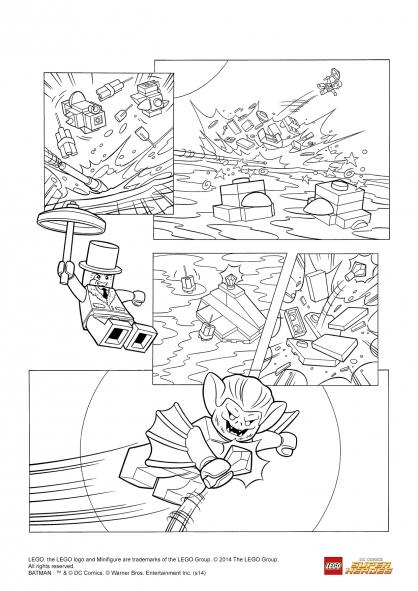 Coloriage LEGO Batman 3 : Man-Bat vole le diamant