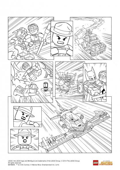 Coloriage LEGO Batman 3 : Robin et Batgirl à la rescousse