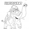 Coloriage Les Croods : Girelephant