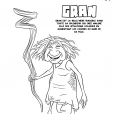 Coloriage Les Croods : Gran