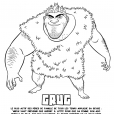 Coloriage Les Croods : Grug