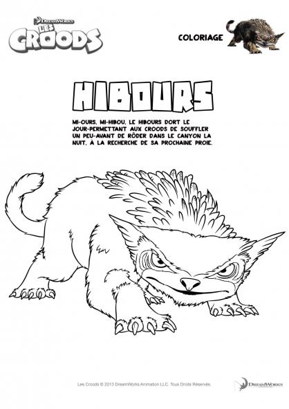 Coloriage Les Croods : Hibours