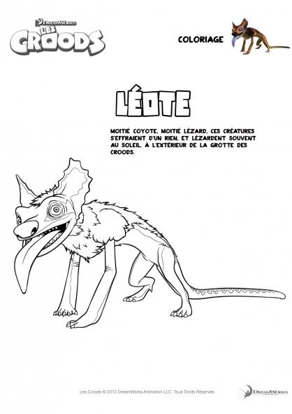 Coloriage Les Croods : Léote