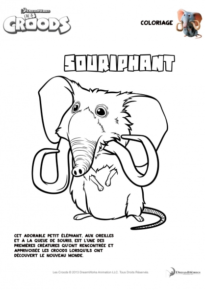 Coloriage Les Croods : Souriphant