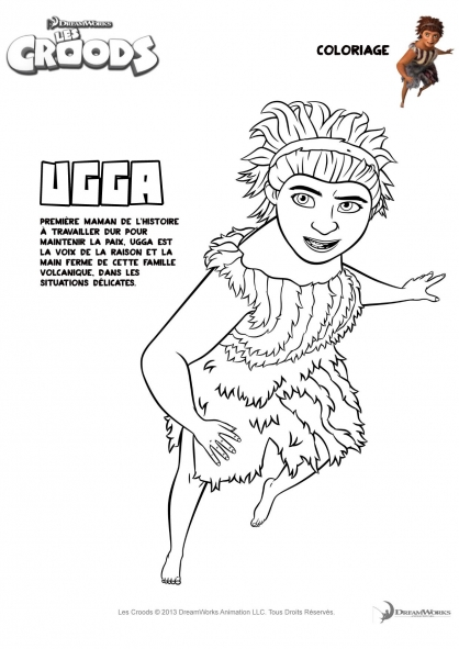 Coloriage Les Croods : Ugga