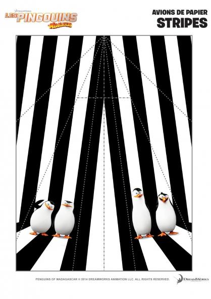Coloriage Les Pingouins de Madagascar: Avions de papier (4)