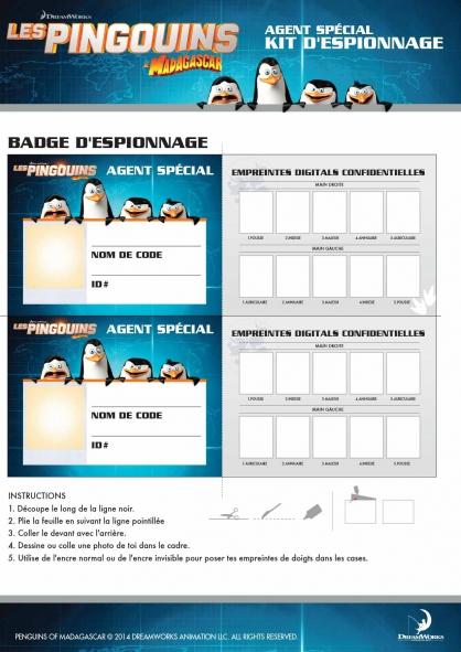Coloriage Les Pingouins de Madagascar : Kit d'espionnage (1)