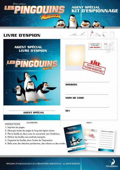 Coloriage Les Pingouins de Madagascar : Kit d'espionnage (3)