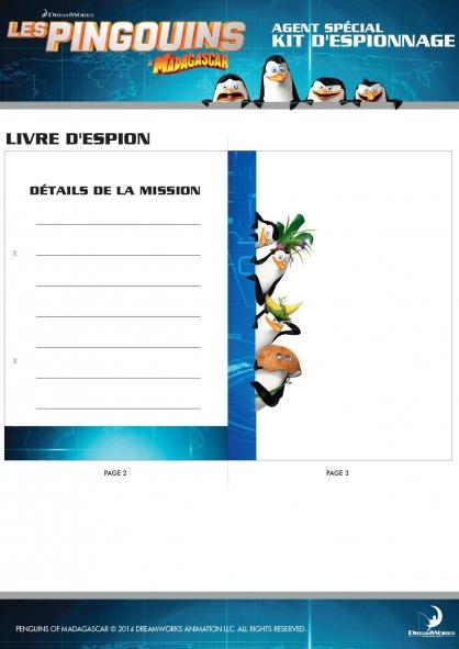 Coloriage Les Pingouins de Madagascar : Kit d'espionnage (4)