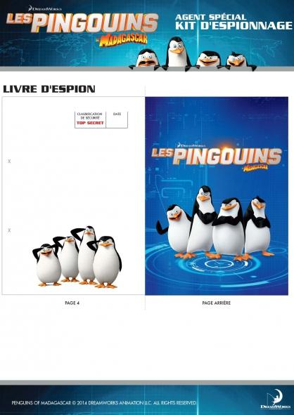 Coloriage Les Pingouins de Madagascar : Kit d'espionnage (5)