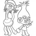 Coloriage Les Trolls : Cooper et Poppy, des supers amis