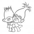 Coloriage Les Trolls : Poppy et Branche