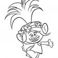 Coloriage Les Trolls : Poppy la chef des Trolls