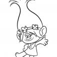 Coloriage Les Trolls : Princesse Poppy