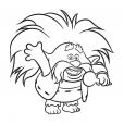 Coloriage Les Trolls : Roi Papy