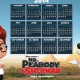 Coloriage MrPeabody&Sherman : Calendrier 2014