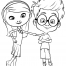 Coloriage MrPeabody&Sherman : Penny et Sherman