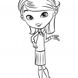 Coloriage MrPeabody&Sherman : Penny Peterson