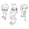 Coloriage MrPeabody&Sherman : Penny,  Sherman et Mr. Peabody