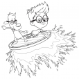 Coloriage MrPeabody&Sherman : Sherman et Mr. Peabody