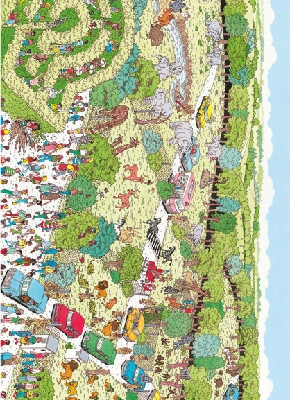 Coloriage Où est Charlie : Charlie au zoo