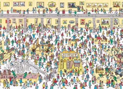 Coloriage Où est Charlie : Cherche au musée