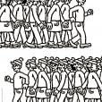 Coloriage Où est Charlie : Les charliemaniaques