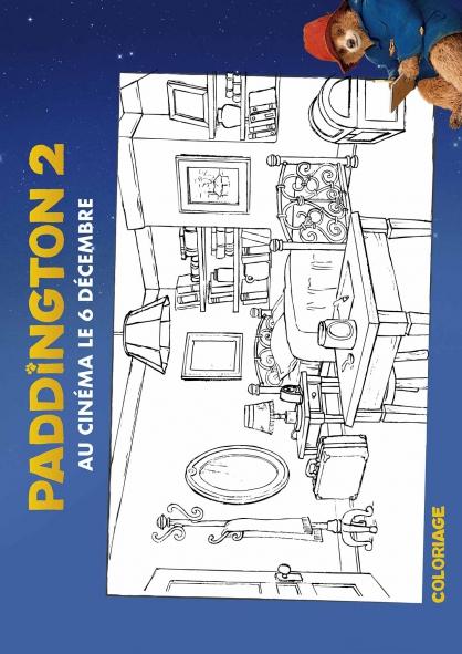 Coloriage La chambre de Paddington